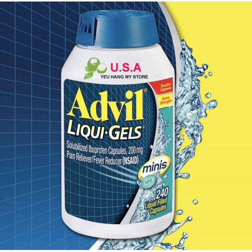 Thuốc Giam Đau Advil Liqui Gels 240 Viên