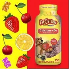 Kẹo Vitamin Lil Critter Calcium + D3 Cho Trẻ Em