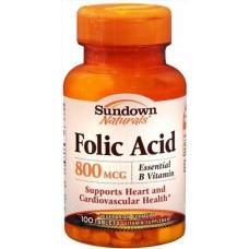 Hỗ Trợ Mọc Râu - Folic Acid 800 mcg