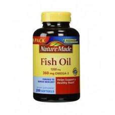 Dầu cá Omega 3 Fish Oil 1200mg Nature Made - 200 Viên Của Mỹ