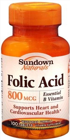 Toàn quốc - Viên uống vitamin Hỗ Trợ Mọc Râu tóc - Folic Acid 800 mcg Thuoc-duong-rau-folic-acid-1